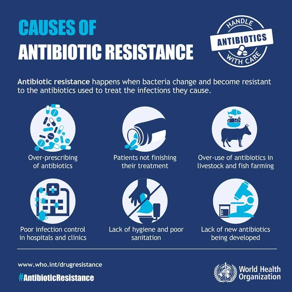 cause resistenza agli antibiotici